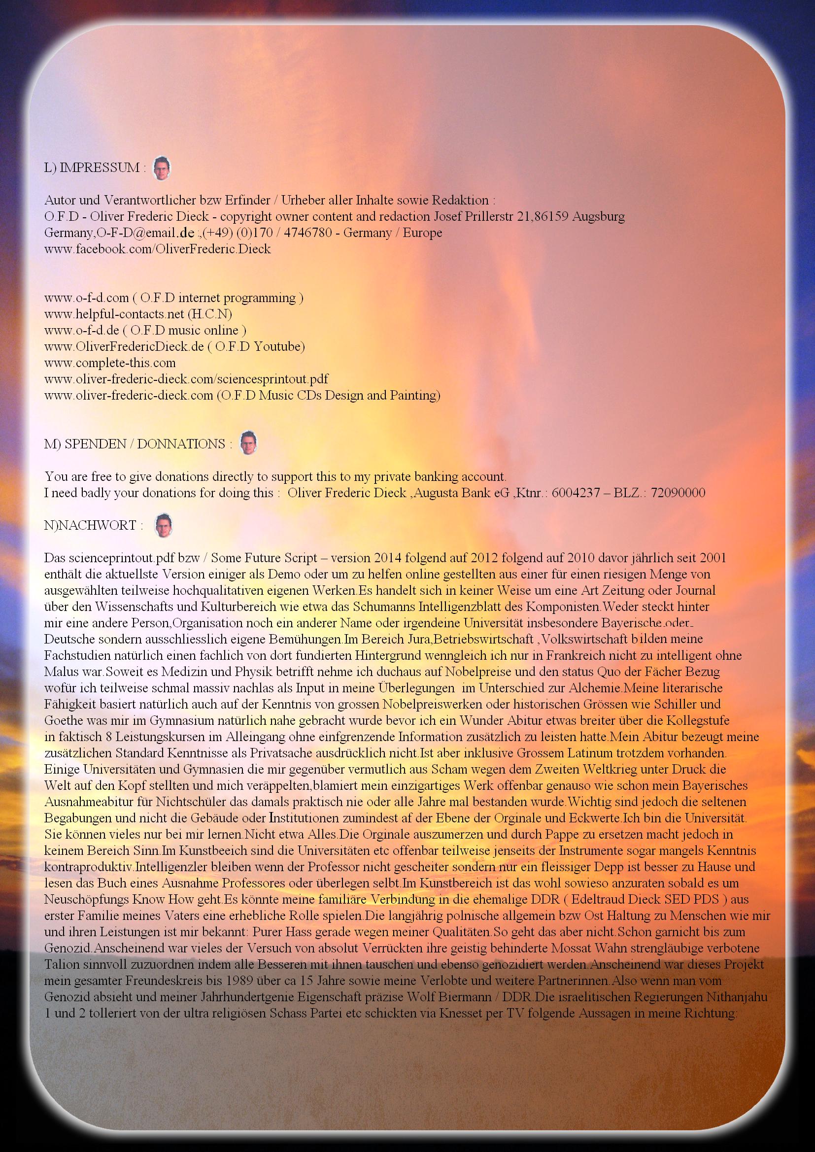 Das Some Future script 2014 Einige wichtige wissenschaftliche